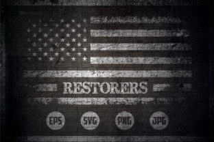 Restorers - USA Flag Graphic Crafts By Creative Mind