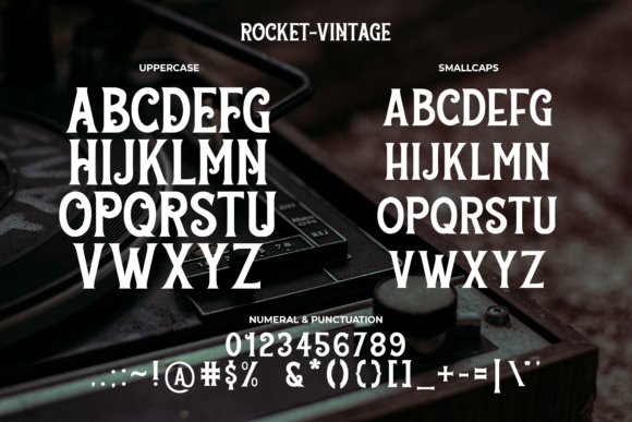 Print on Demand: Rocket Vintage Display Font By staircasestudio20 - Image 6