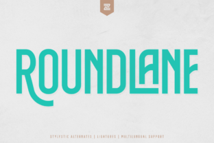Print on Demand: Roundlane Display Font By zealab fonts division