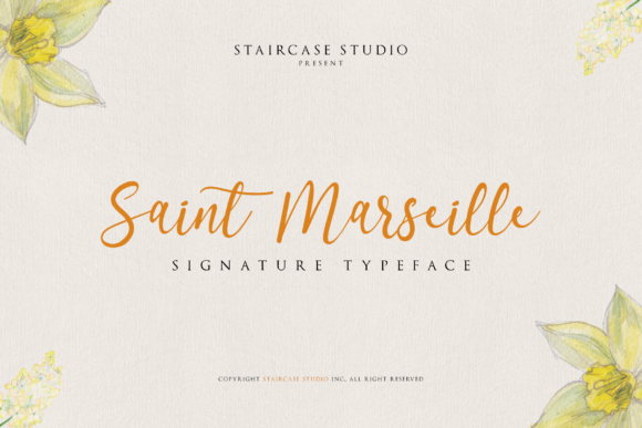 Print on Demand: Saint Marseille Script & Handwritten Font By staircasestudio20