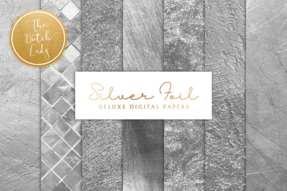 Print on Demand: Silver Foil Texture Backgrounds Graphic Textures By daphnepopuliers