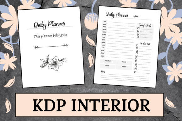 Print on Demand: Simple Daily Planner | KDP Interior Graphic KDP Interiors By Hungry Puppy Studio