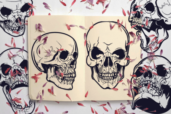 Skull Cut Files Pack with 10 Items Gráfico Crafts Por Craft-N-Cuts