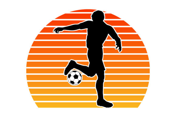 Print on Demand: Soccer Player Retro Sunset   Graphic Logos By SunandMoon