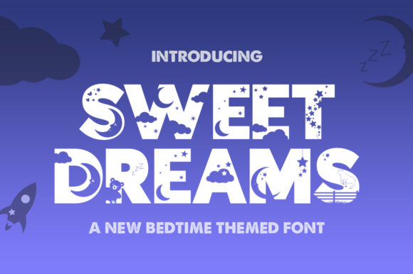 Print on Demand: Sweet Dreams Display Fuente Por Salt & Pepper Designs