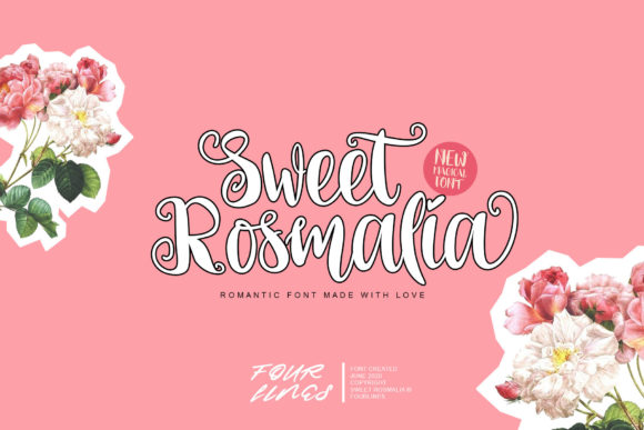 Print on Demand: Sweet Rosmalia Script & Handwritten Font By Fourlines.design - Image 1