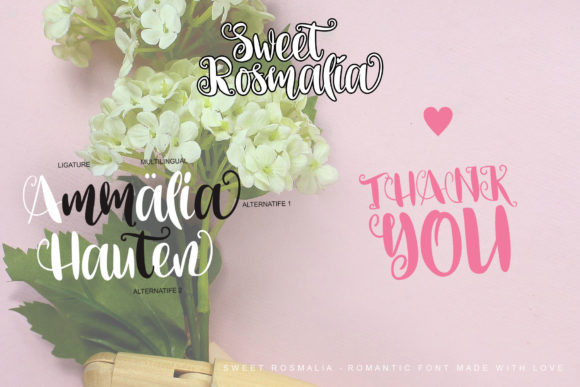 Print on Demand: Sweet Rosmalia Script & Handwritten Font By Fourlines.design - Image 10