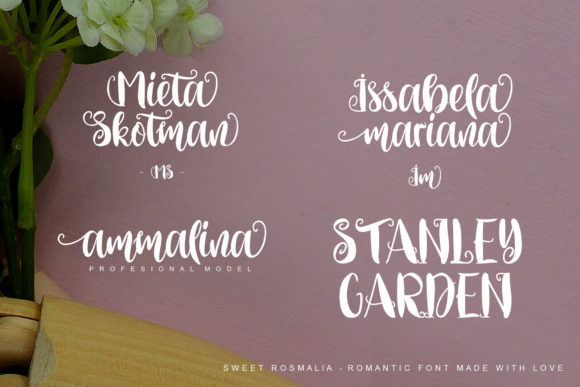 Print on Demand: Sweet Rosmalia Script & Handwritten Font By Fourlines.design - Image 6