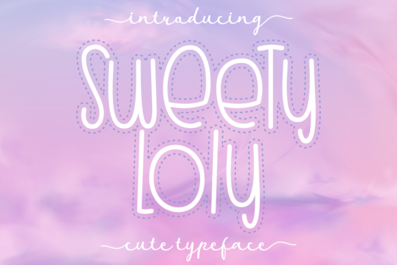 Print on Demand: Sweety Loly Display Font By Dani (7NTypes)