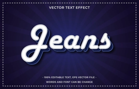 Text Effect Editable - Jeans Graphic Add-ons By aalfndi