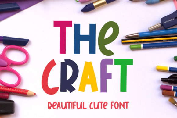 Print on Demand: The Craft Display Font By ONE DESIGN