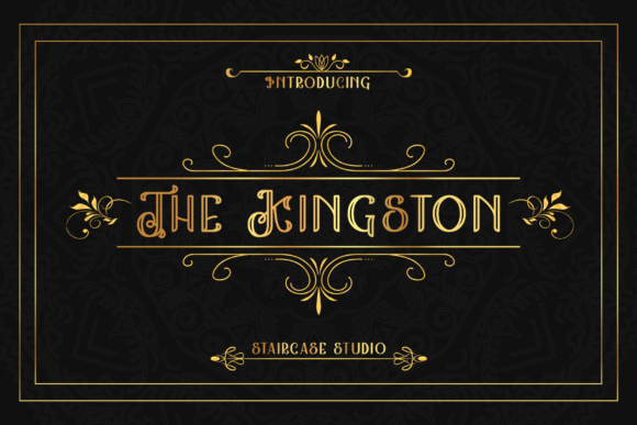 Print on Demand: The Kingston Display Font By staircasestudio20