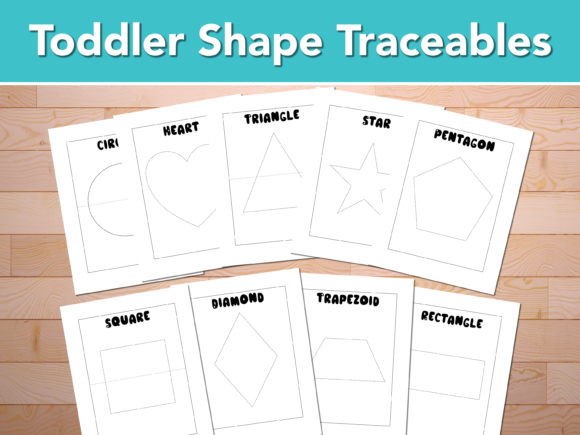 Print on Demand: Toddler Traceable Graphic Print Templates By AscendPrints