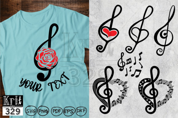 Treble Clef Music Note Clip Art Graphic Crafts By Krit-Studio329