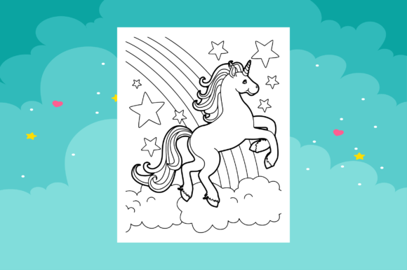 Print on Demand: Unicorn Coloring Pages for Kids Graphic Coloring Pages & Books Kids By MK DESIGNS