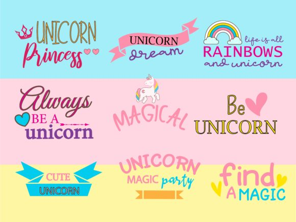 Unicorn Quotes Bundle Graphic Illustrations By studioluckee