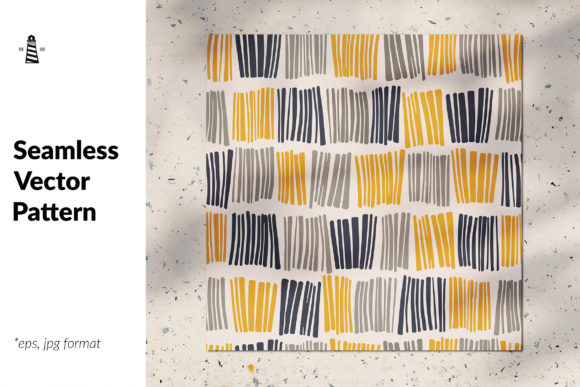 Print on Demand: Vector Pattern with Abstract Lines Graphic Patterns By northseastudio