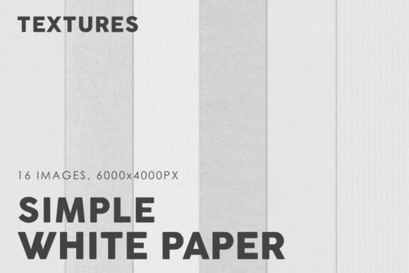 Print on Demand: White Simple Paper Textures Graphic Textures By ArtistMef
