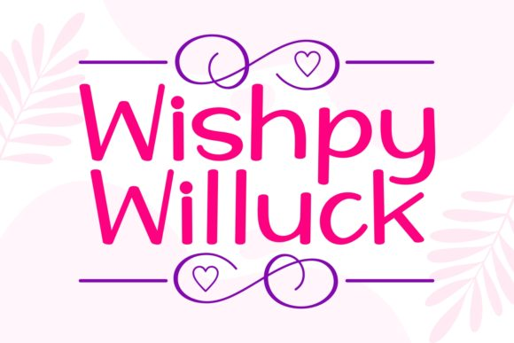 Print on Demand: Wishpy Willuck Script & Handwritten Font By Keithzo (7NTypes)