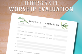 Print on Demand: Worship Evaluation Music Audition Sheet Graphic Print Templates By AscendPrints