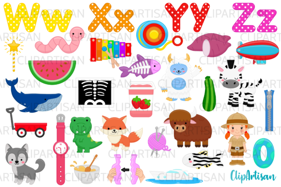 Alphabet Clip Art, ABC Illustrations Graphic Illustrations By ClipArtisan