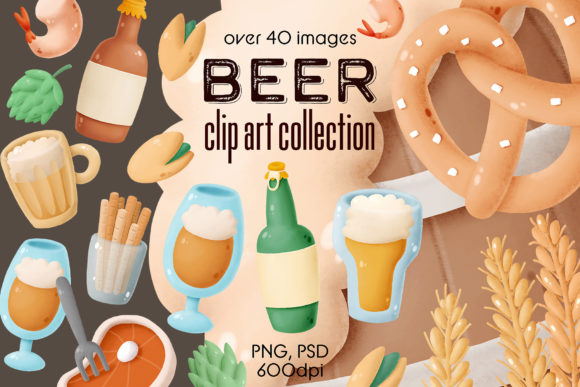 Print on Demand: Beer Clip Art Collection Graphic Illustrations By Architekt_AT