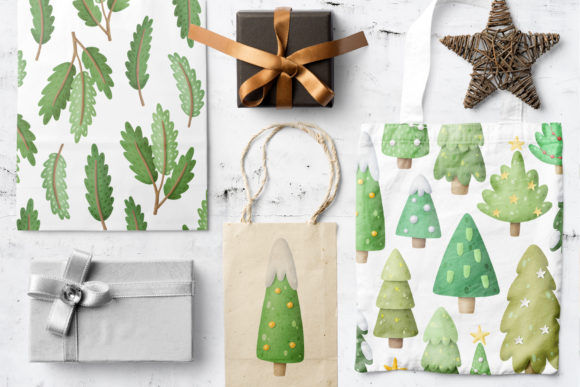 Print on Demand: Christmas Trees Clipart Graphic Illustrations By Architekt_AT - Image 3