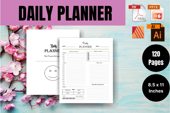 Print on Demand: Daily Planner - KDP Interior Graphic KDP Interiors By Sei Ripan