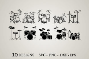 Drum Bundle Graphic Print Templates By Euphoria Design