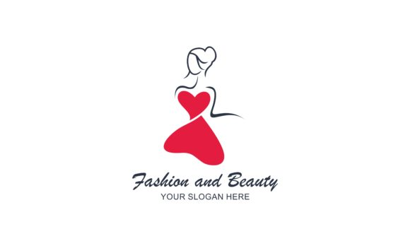 Fashion, Female, Dress and Beauty Logo Graphic Logos By 2qnah