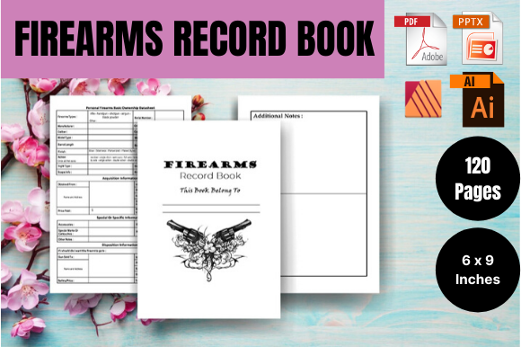 Print on Demand: Firearms Record Book - KDP Interior Graphic KDP Interiors By Sei Ripan