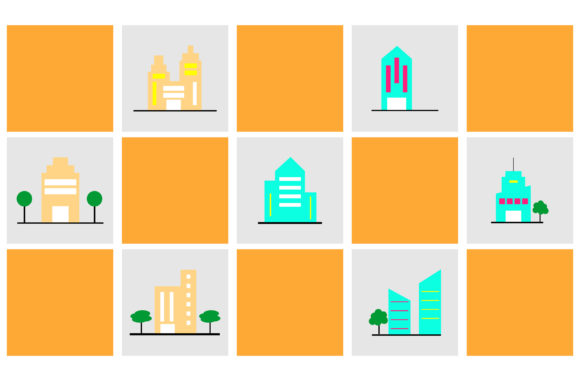 Print on Demand: Illustration of Building Graphic Backgrounds By Yapivector