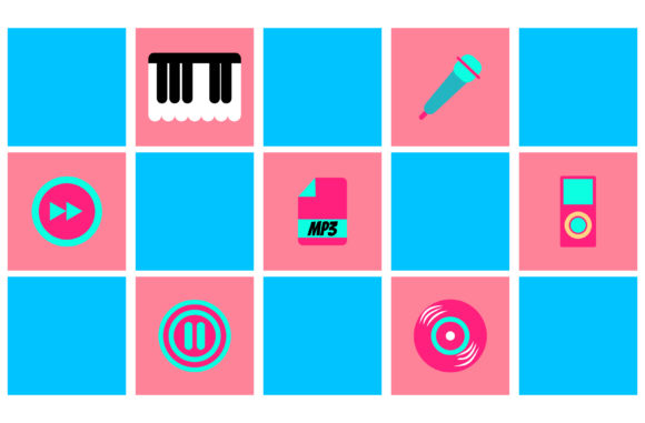 Print on Demand: Illustration of Music Equipment Graphic Backgrounds By Yapivector
