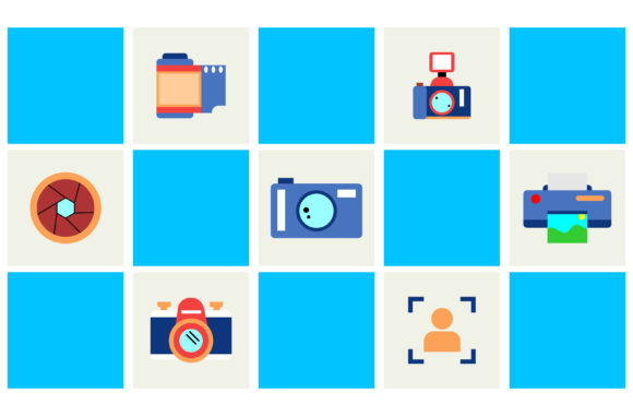 Print on Demand: Illustration of Photo Equipment Graphic Backgrounds By Yapivector