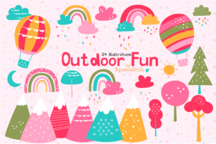 Print on Demand: Outdoor Fun Clipart Set Graphic Illustrations By poppymoondesign