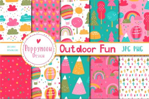 Print on Demand: Outdorr Fun Paper Graphic Patterns By poppymoondesign - Image 1