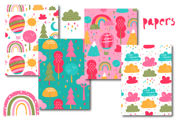 Print on Demand: Outdorr Fun Paper Graphic Patterns By poppymoondesign - Image 2