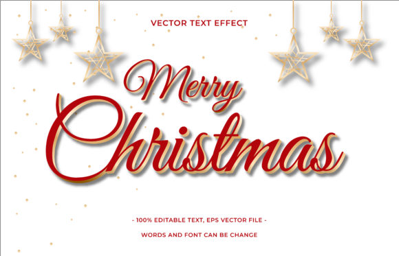 Text Effect Editable - Christmas Graphic Add-ons By aalfndi