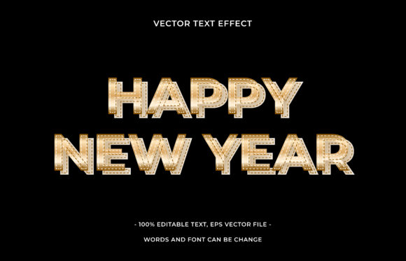 Text Effect Editable - Happy New Year Graphic Add-ons By aalfndi