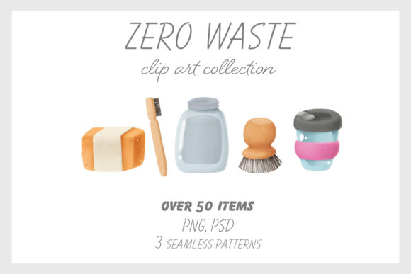 Print on Demand: Zero Waste Clip Art Collection Graphic Illustrations By Architekt_AT