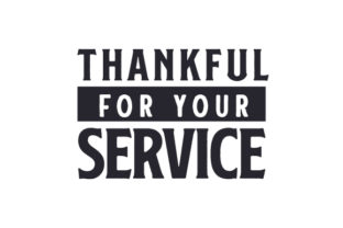 Thankful for Your Service Military Craft Cut File By Creative Fabrica Crafts