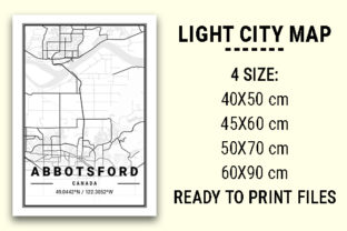 Print on Demand: Abbotsford Light City Map Graphic Photos By tienstencil