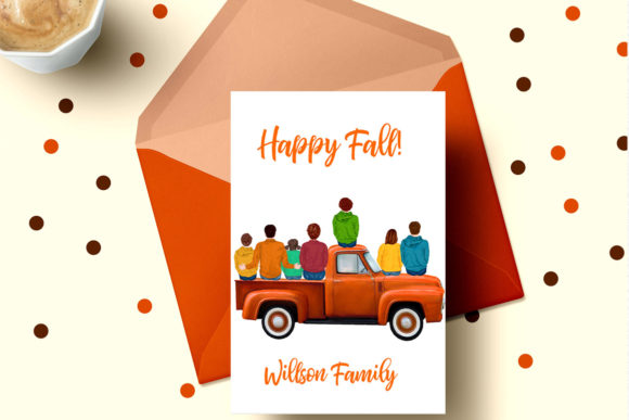 Autumn Family Truck Clipart Graphic Illustrations By LeCoqDesign - Image 5
