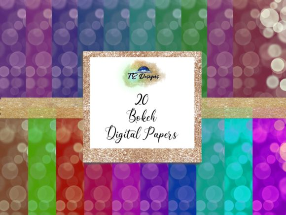 Print on Demand: Bokeh Digital Papers Vol 1 Graphic Backgrounds By TE Designs
