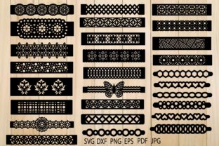 Print on Demand: Bracelets, Bracelets Template Graphic Crafts By yulnniya