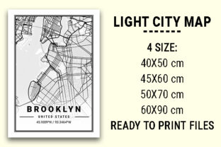 Print on Demand: Brooklyn Light City Map Graphic Photos By tienstencil