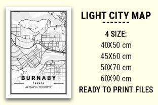 Print on Demand: Burnaby Light City Map Graphic Photos By tienstencil