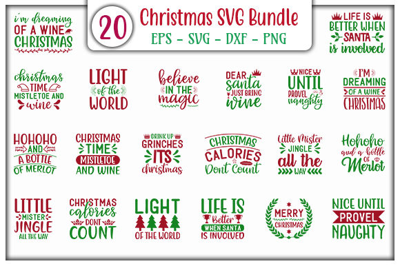 Print on Demand: Christmas Design Bundle Graphic Print Templates By GraphicsBooth