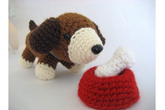 Crochet Puppy Play Set Pattern Graphic Crochet Patterns By Amy Gaines Amigurumi Patterns - Image 3