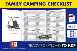 Print on Demand: Family Camping Checklist | KDP Interior Graphic KDP Interiors By Beast Designer